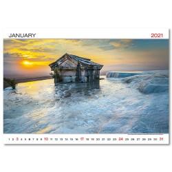 Nástěnný kalendář 2021 - World Wonders