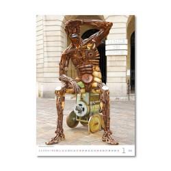Nástěnný kalendář 2021 - Modern Statues