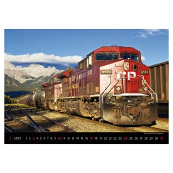 Nástěnný kalendář 2021 - Locomotives