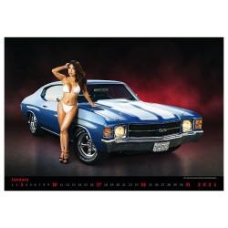 Nástěnný kalendář 2021 - Muscle Cars