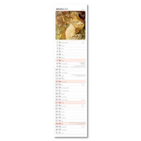 Nástěnný kalendář 2021 - Alfons Mucha