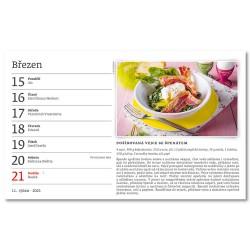 Stolní kalendář 2021 - Česká kuchyně