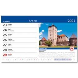 Stolní kalendář 2021 - Křížem krážem Českou republikou