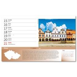 Stolní kalendář 2021 - 55 turistických nej Čech, Moravy a Slezska