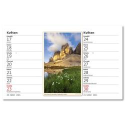 Stolní kalendář 2021 - Výšky hor