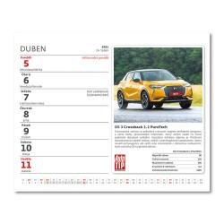 Stolní kalendář 2021 - MiniMax Auta
