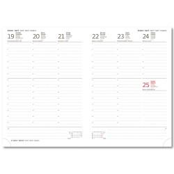 Diář 2021 týdenní B5 Print Classic - černá