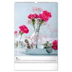 Nástěnný kalendář 2021 Kytice