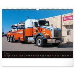 Nástěnný kalendář 2021 Trucks