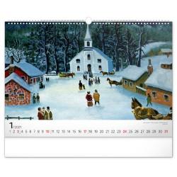 Nástěnný kalendář 2021 Naivní umění – Konstantin Rodko