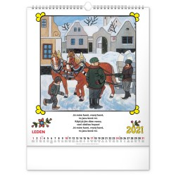 Nástěnný kalendář 2021 Josef Lada – Říkadla