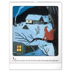 Nástěnný kalendář 2021 Josef Lada – Zvířátka