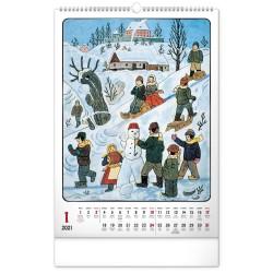 Nástěnný kalendář 2021 Josef Lada – Tradice a zvyky