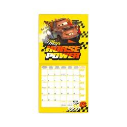 Nástěnný poznámkový kalendář 2021 Auta 3, s 50 samolepkami