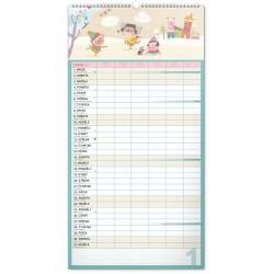 Nástěnný kalendář 2021 Rodinný plánovací XXL