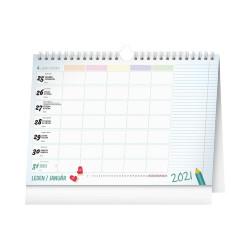 Týdenní rodinný plánovací kalendář 2021 s háčkem