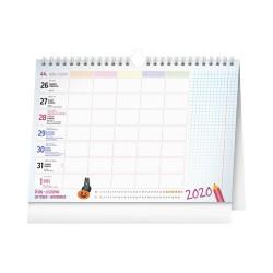 Školní plánovací kalendář 2021 s háčkem