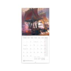 Nástěnný poznámkový kalendář 2021 Bitevní lodě