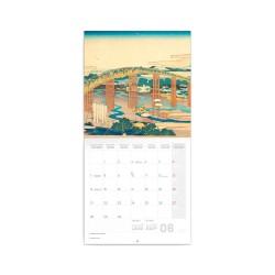 Nástěnný poznámkový kalendář 2021 Katsushika Hokusai