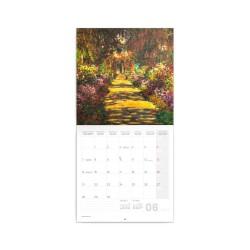 Nástěnný poznámkový kalendář 2021 Claude Monet