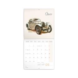 Nástěnný poznámkový kalendář 2021 Classic Cars – Václav Zapadlík,
