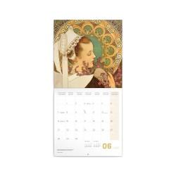 Nástěnný poznámkový kalendář 2021 Alfons Mucha