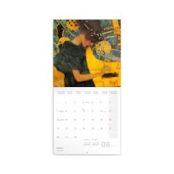 Nástěnný poznámkový kalendář 2021 Gustav Klimt