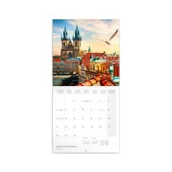 Nástěnný poznámkový kalendář 2021 Praha letní