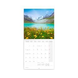 Nástěnný poznámkový kalendář 2021 Alpy