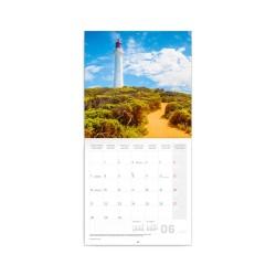 Nástěnný poznámkový kalendář 2021 Majáky