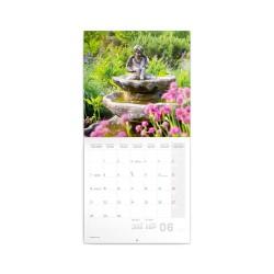 Nástěnný poznámkový kalendář 2021 Zahrady