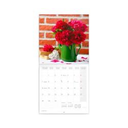 Nástěnný poznámkový kalendář 2021 Pivoňky