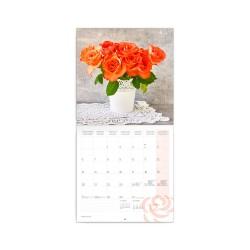 Nástěnný poznámkový kalendář 2021 Růže, voňavý