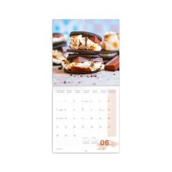 Nástěnný poznámkový kalendář 2021 Čokoláda, voňavý