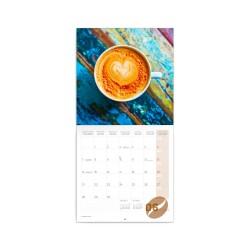 Nástěnný poznámkový kalendář 2021 Káva, voňavý