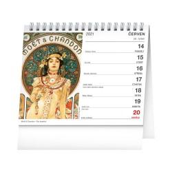 Stolní kalendář 2021 Alfons Mucha
