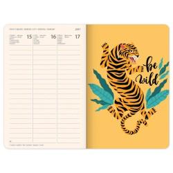 Diář týdenní B6 2021 - Blue Tiger