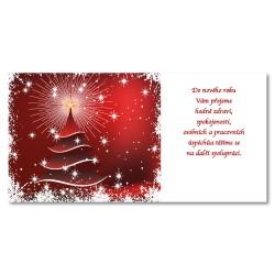 PF 2021 - karta s textem - červený stromeček