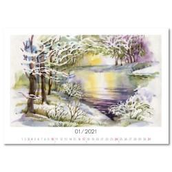 Nástěnný kalendář 2021 - Akvarely