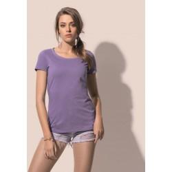"Dámské tričko LISA melír do ""U"" - Výprodej"