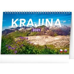 Stolní kalendář 2021 Krajina CZ/SK