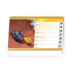 Stolní kalendář 2021 Auta 3
