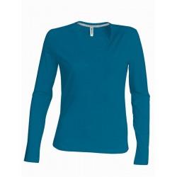Dámské tričko dl.rukáv V-neck - Výprodej