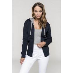 Dámská mikina s kontrastní kapucí Contrast Hooded Sweatshirt - Výprodej