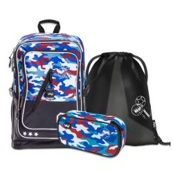 Školní set Cubic Army - batoh, penál, sáček