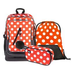 Školní set Cubic Puntíky - batoh, penál, sáček