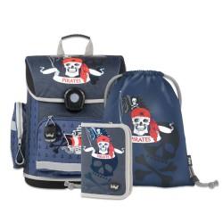 Školní set Piráti - aktovka, penál, sáček
