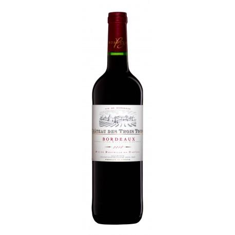 červené víno CHATEAU DES TROIS TOURS 2018 (2019)