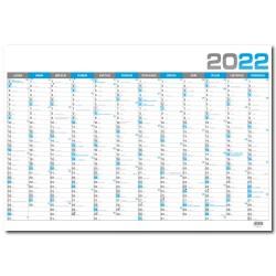Nástěnný roční kalendář 2022  B1 - Modrá
