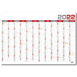 Nástěnný roční kalendář 2022 B1 - Červená
